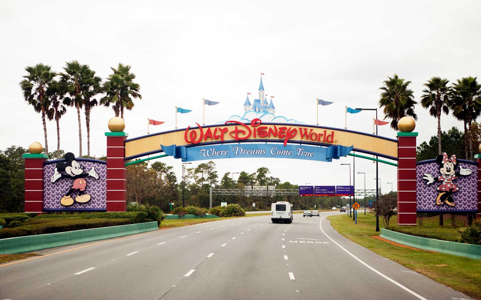 South entrance of Disney World in Orlando Florida