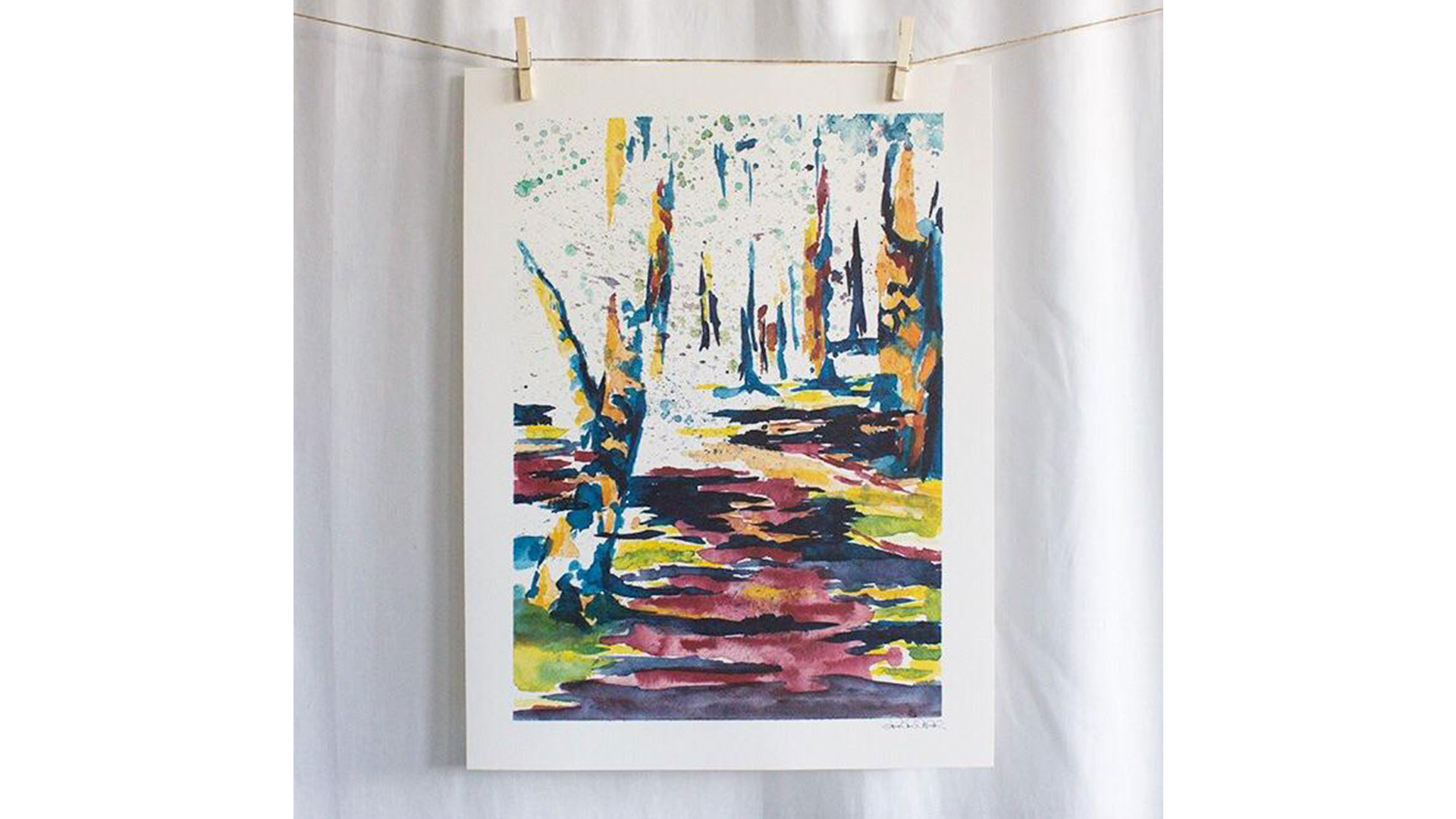 Erin and Ben Napier American Products Watercolor Prints