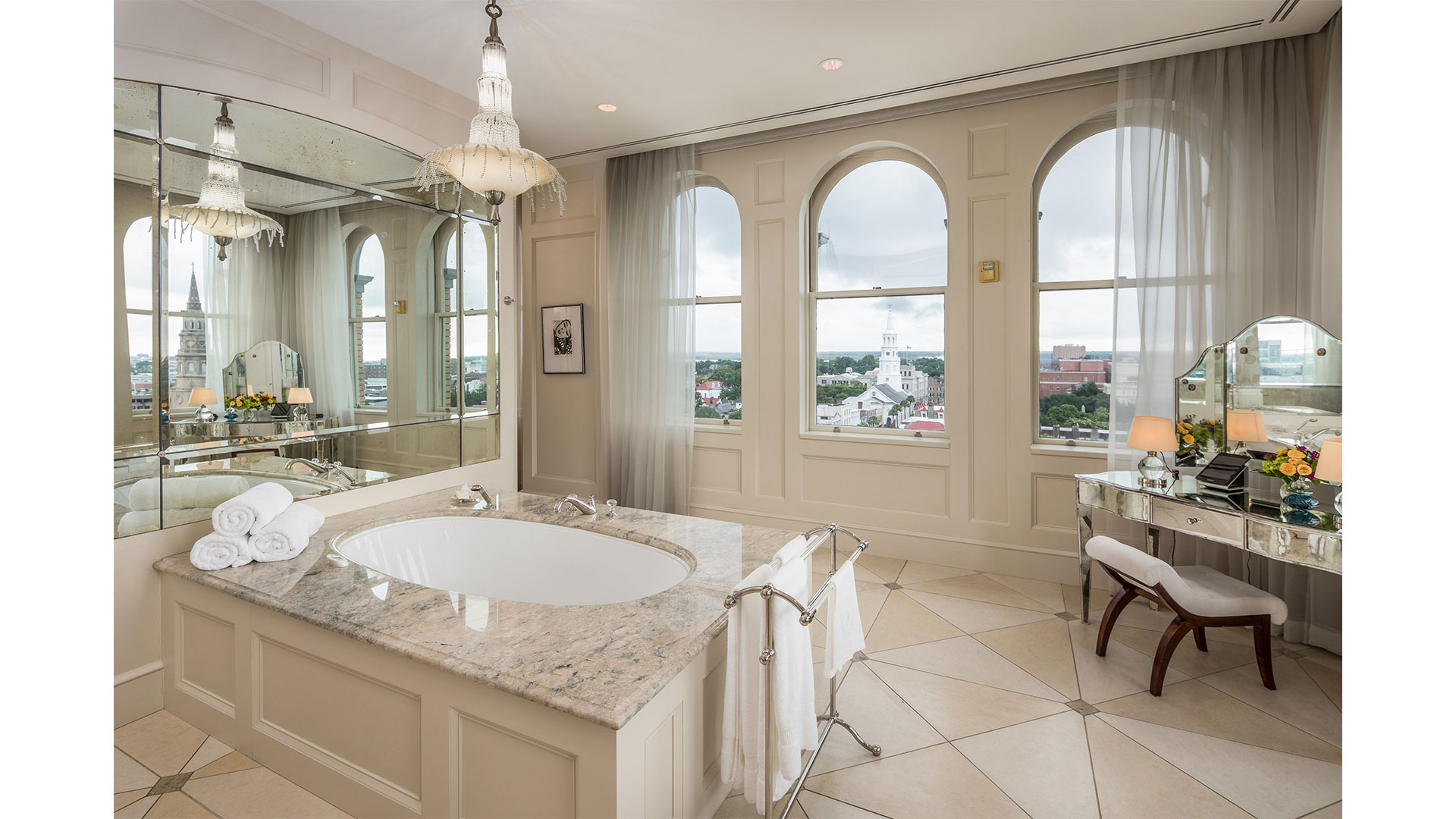 Charleston People's Building Penthouse Master Bathroom