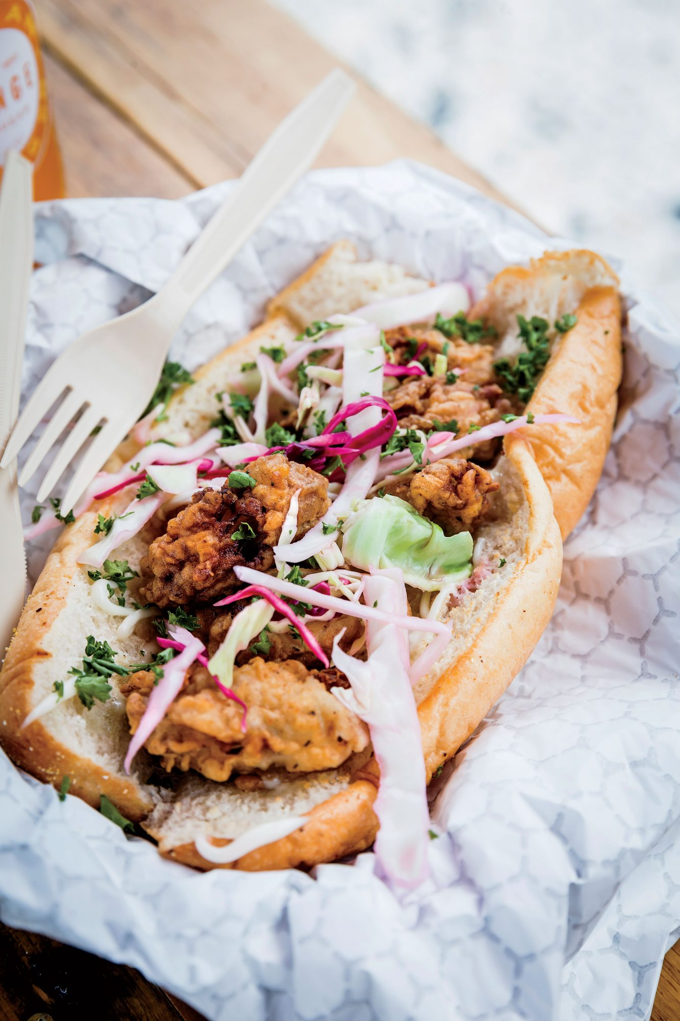 The Farmer's Daughter Oyster PoBoy