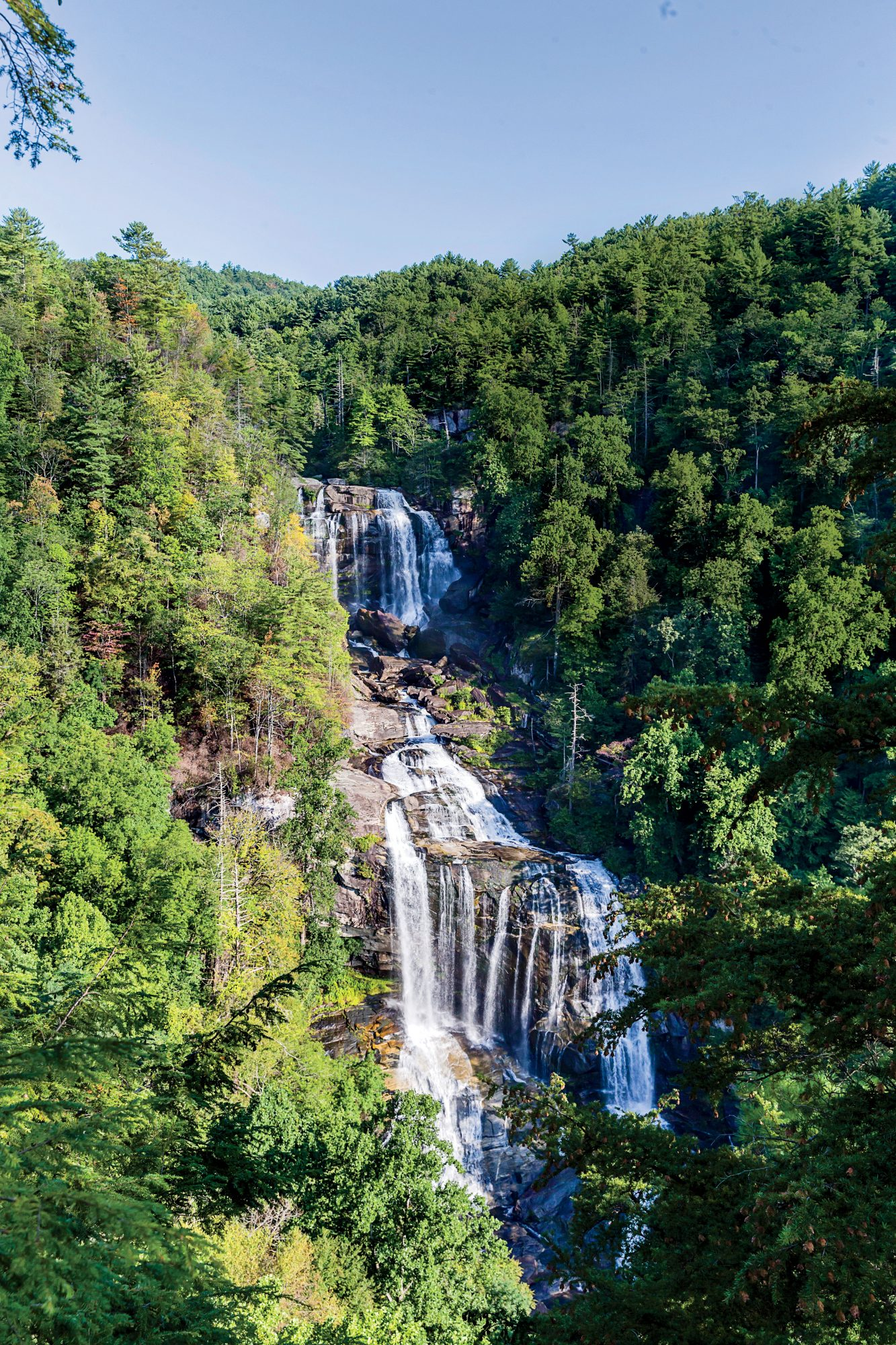 Whitewater Falls in Cashiers, NC