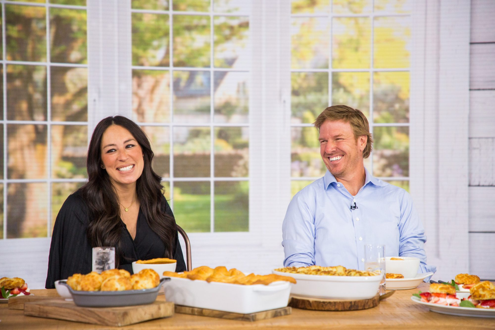 Chip and Joanna Gaines at Table