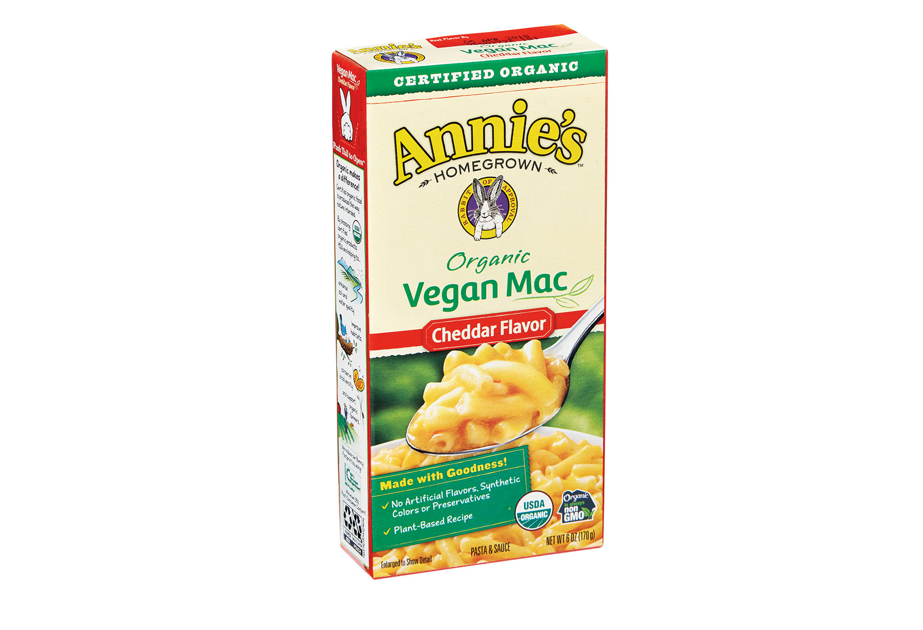 Annie's Organic Vegan Mac and Cheese, Cheddar Flavor