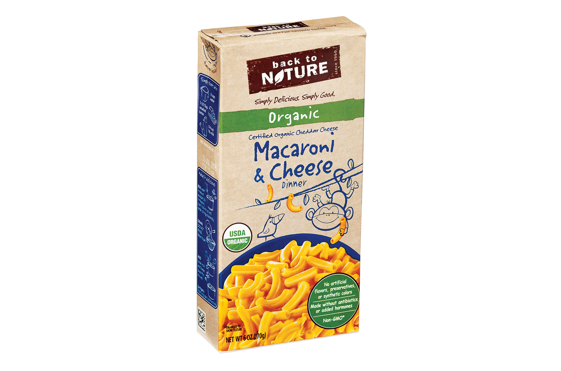 Back to Nature Organic USDA Macaroni & Cheese