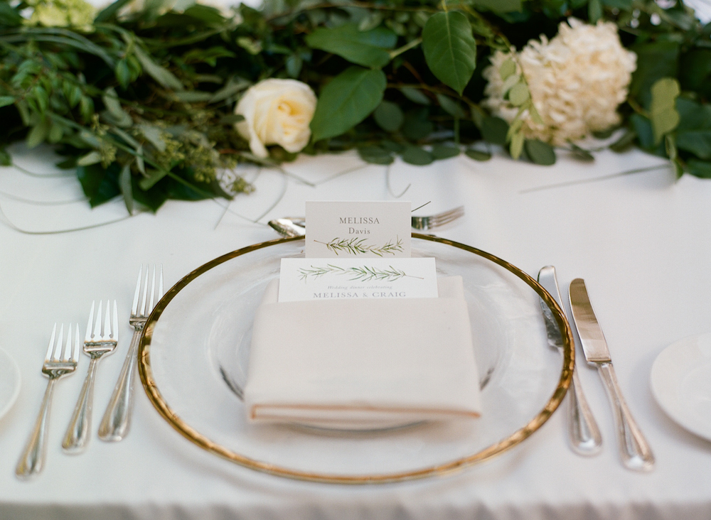 Timeless Wedding Table Setting