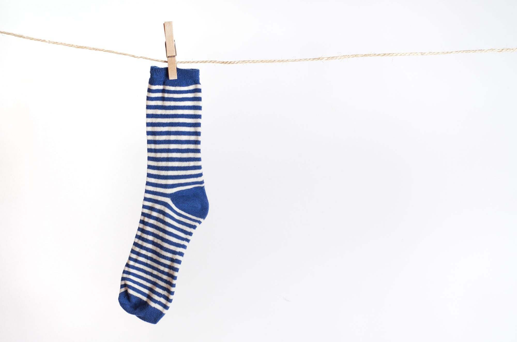 Sock on Clothesline