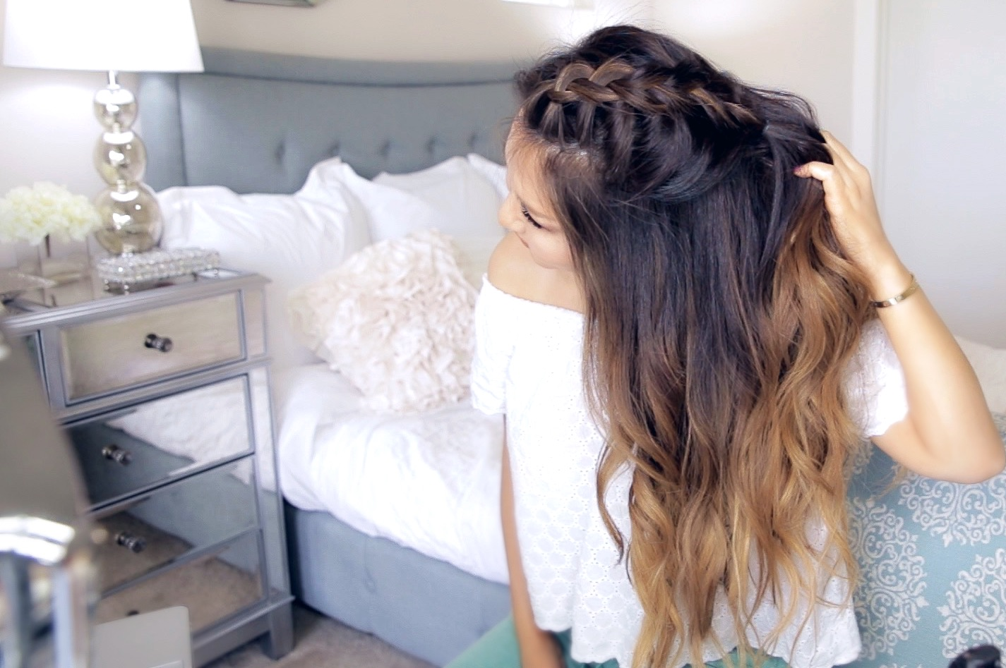 Half-Up Mohawk Braid