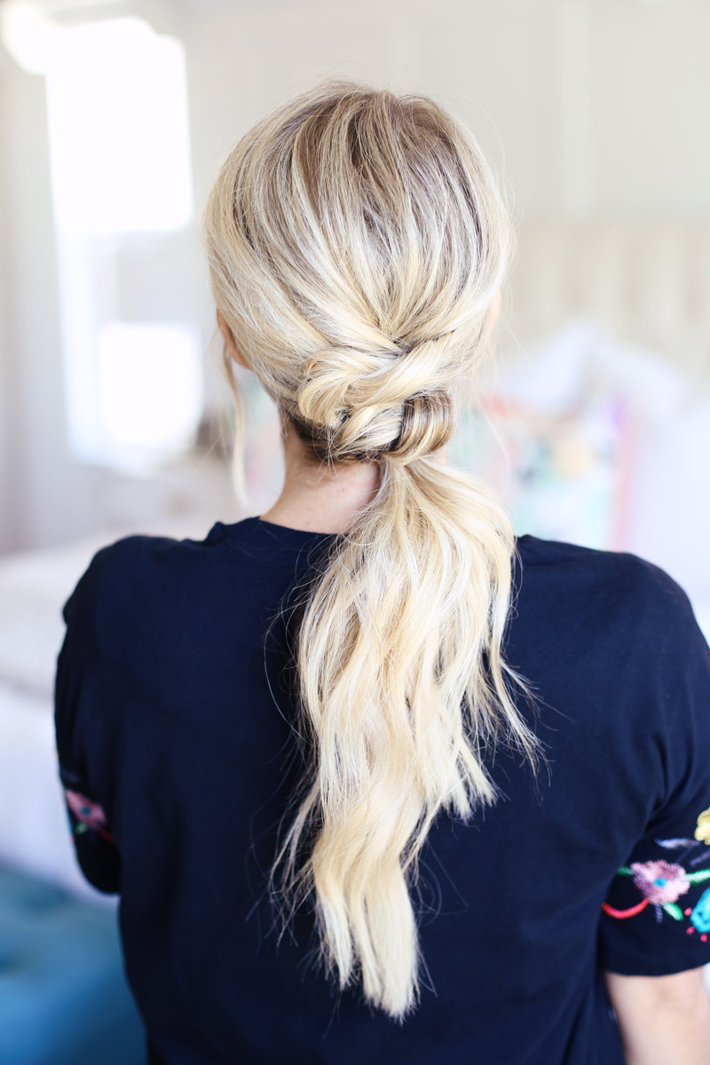 Knotted Low Ponytail