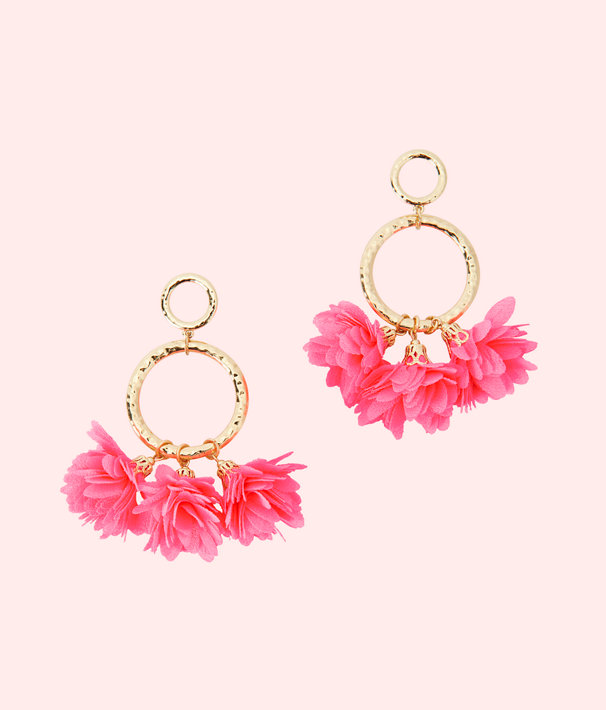 Lilly Pulitzer Cascading Petals Hoop Earrings