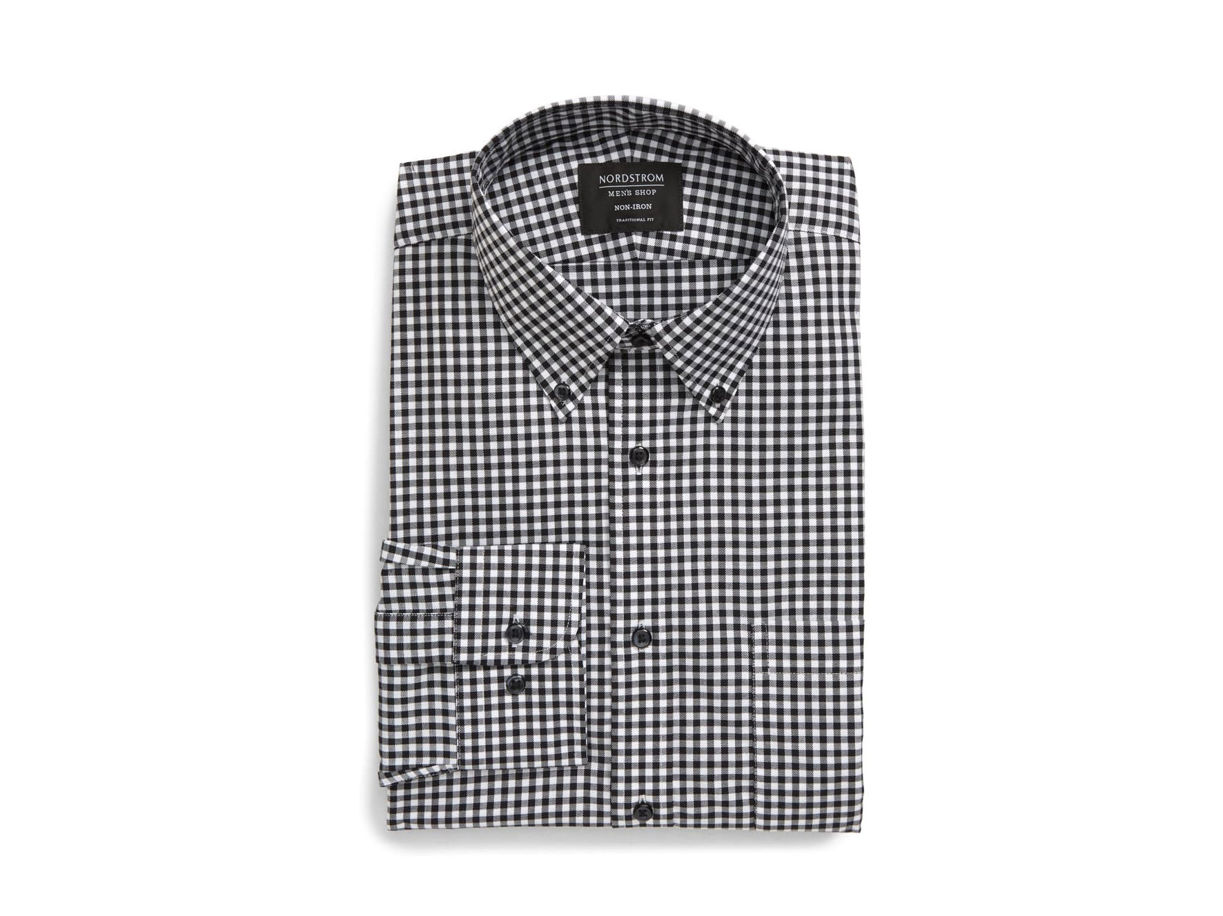 Traditional Fit Non-Iron Gingham Dress Shirt