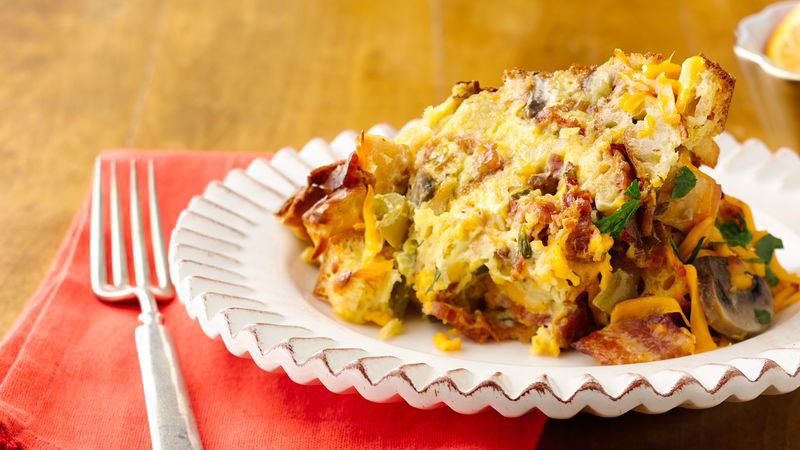 Smoked Cheddar, Bacon, and Egg Casserole