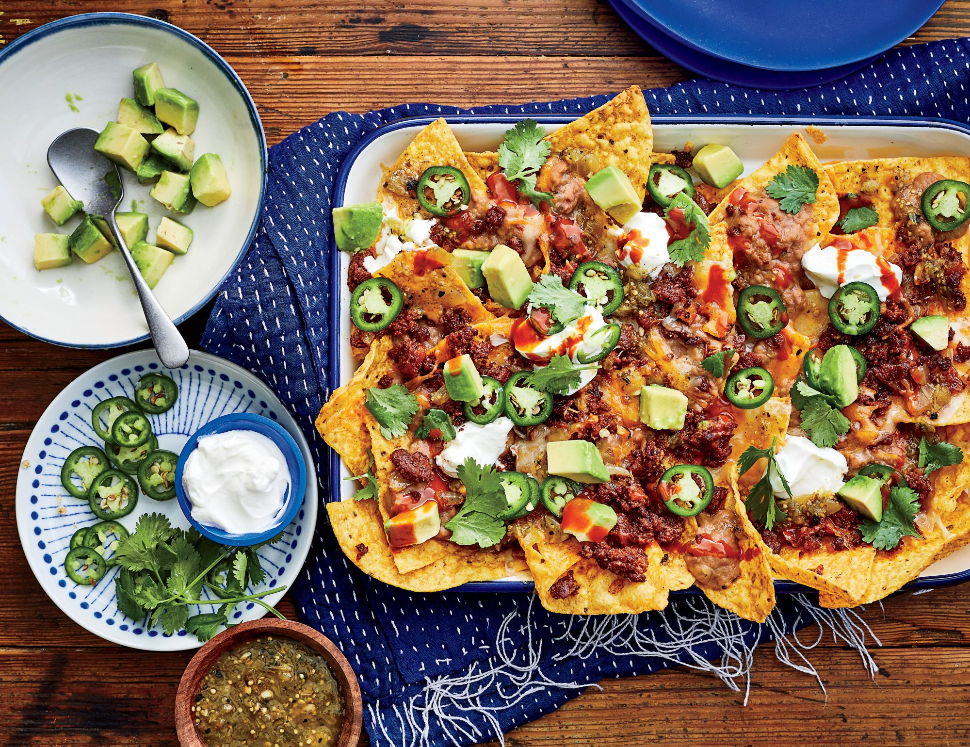 how to make nachos with refried beans