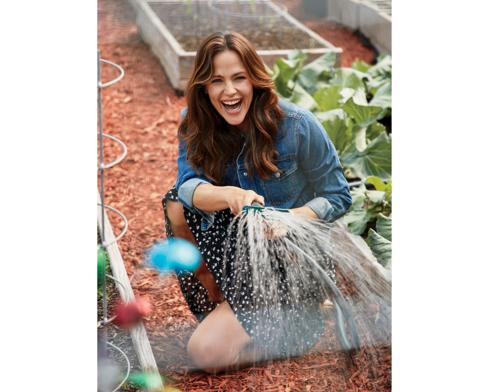 Jennifer Garner in the Vegetable Garden
