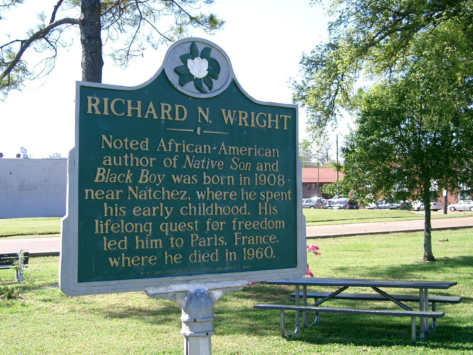 3. Visit where Richard Wright grew up