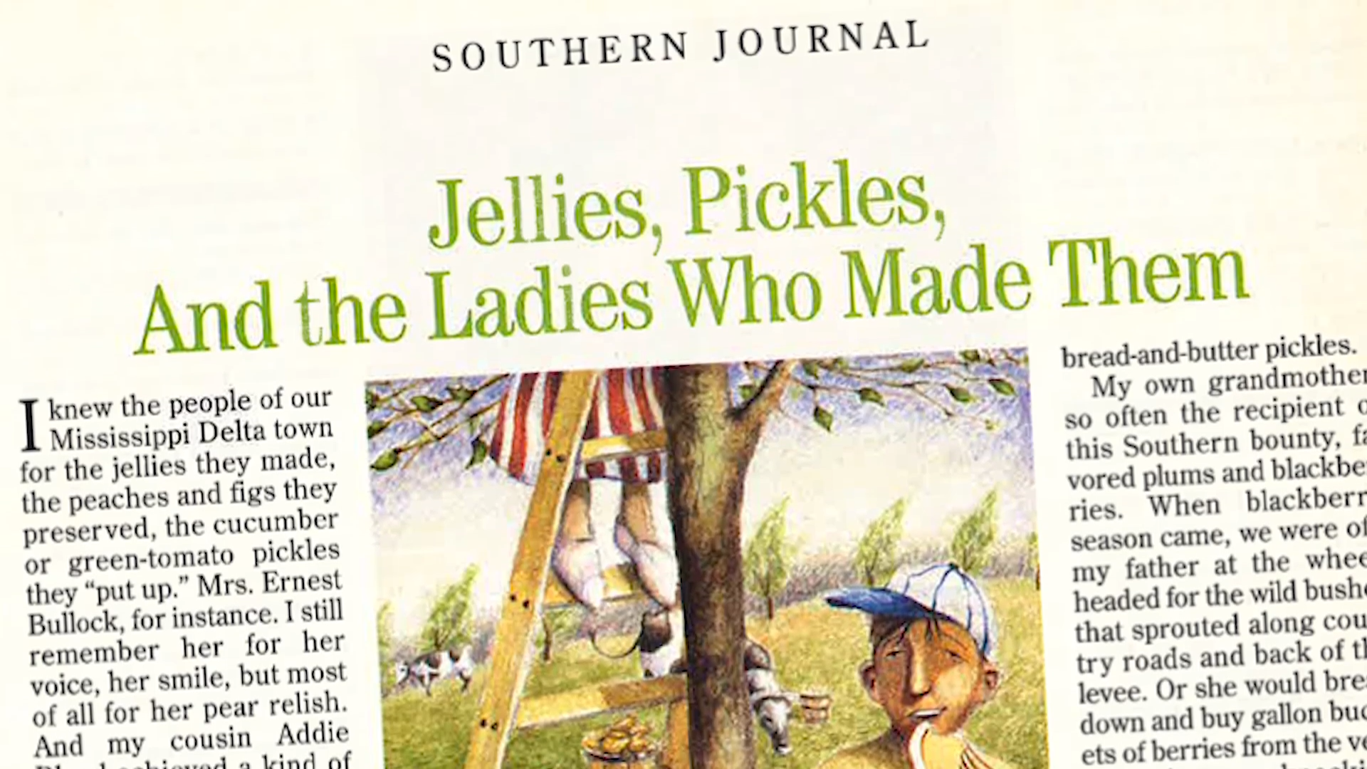 Jellies, Pickles, And The Ladies Who Made Them