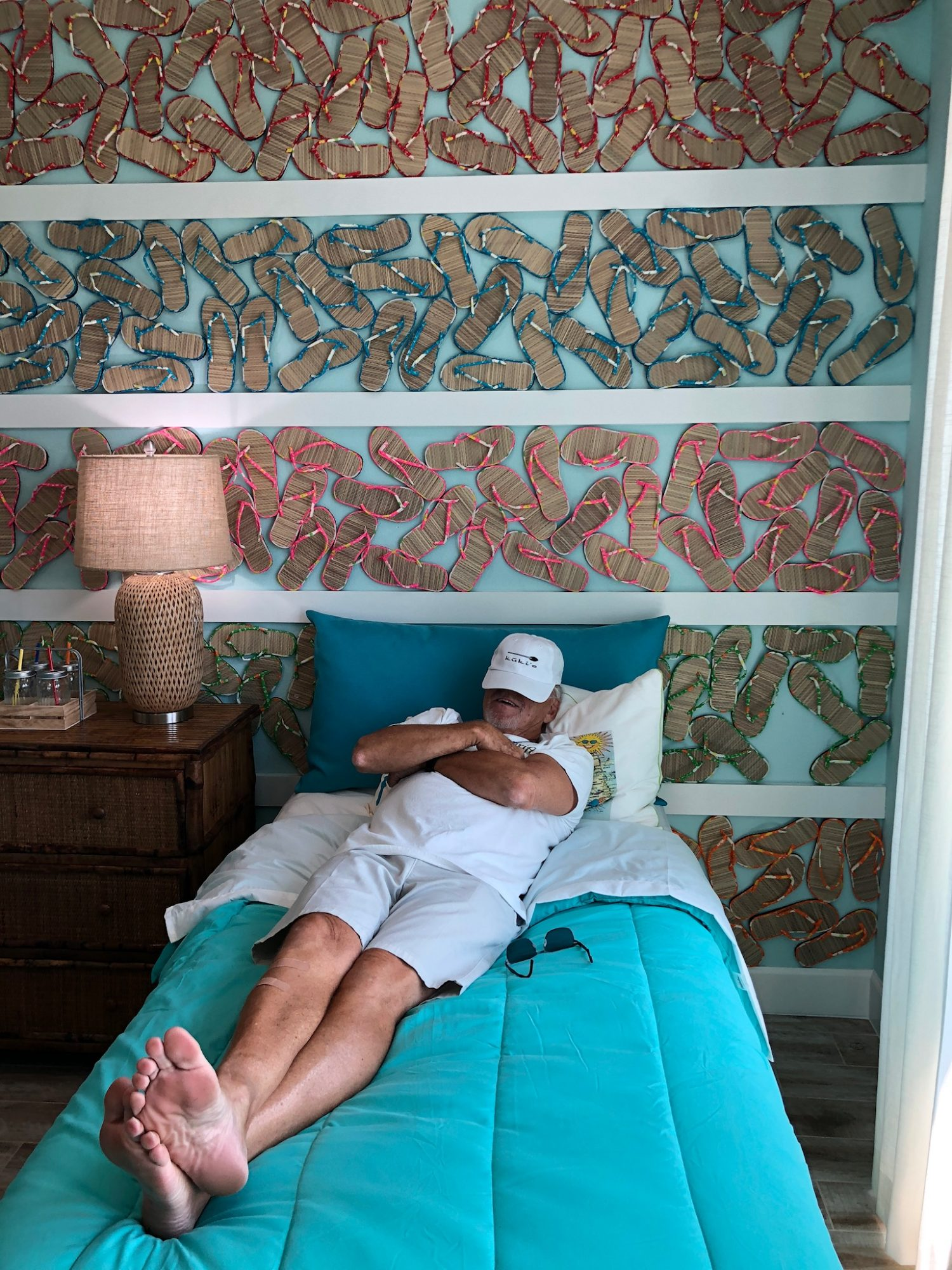 Jimmy Buffett Taking Nap at Latitude Margaritaville