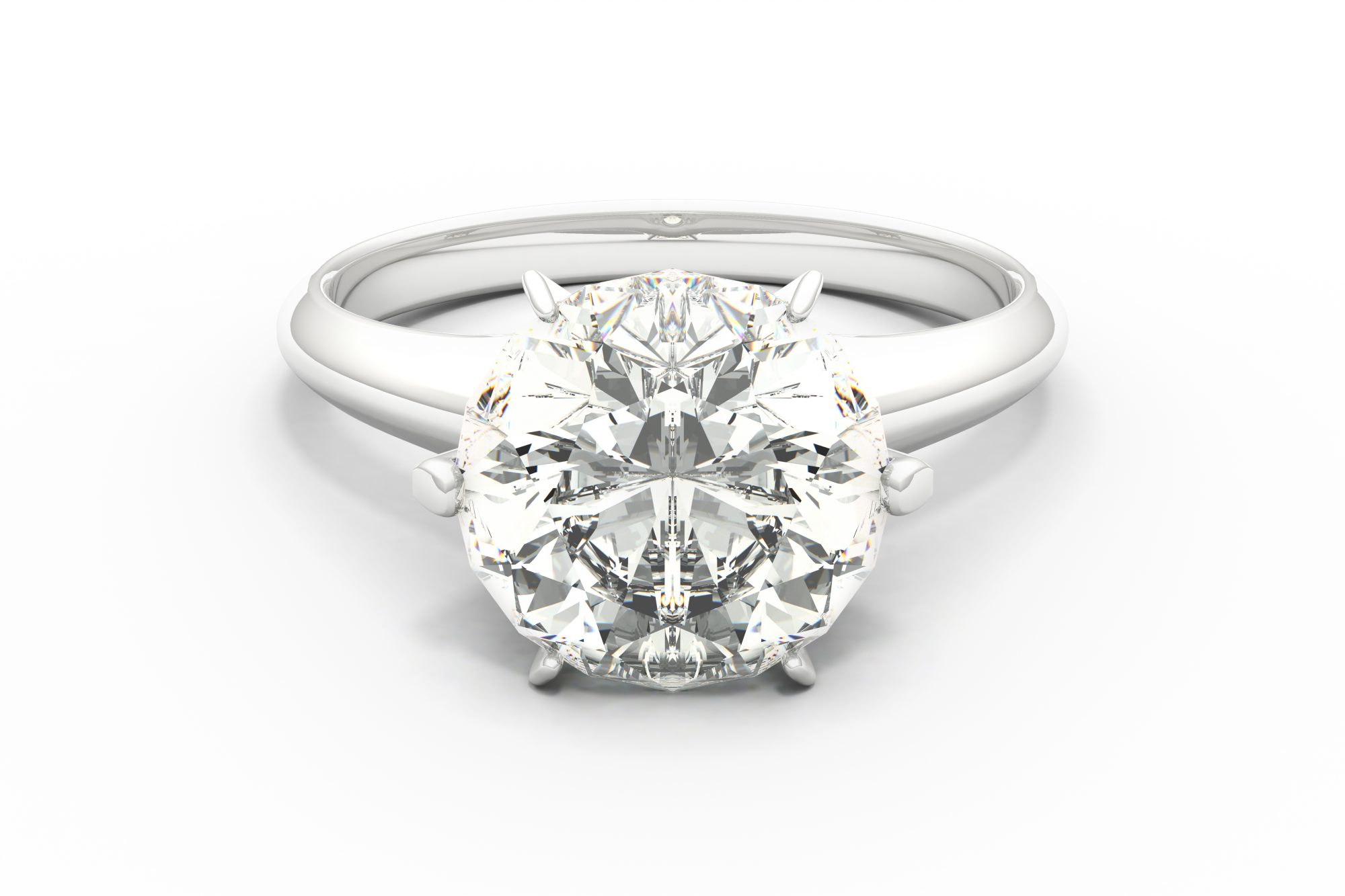 Engagement Ring on White