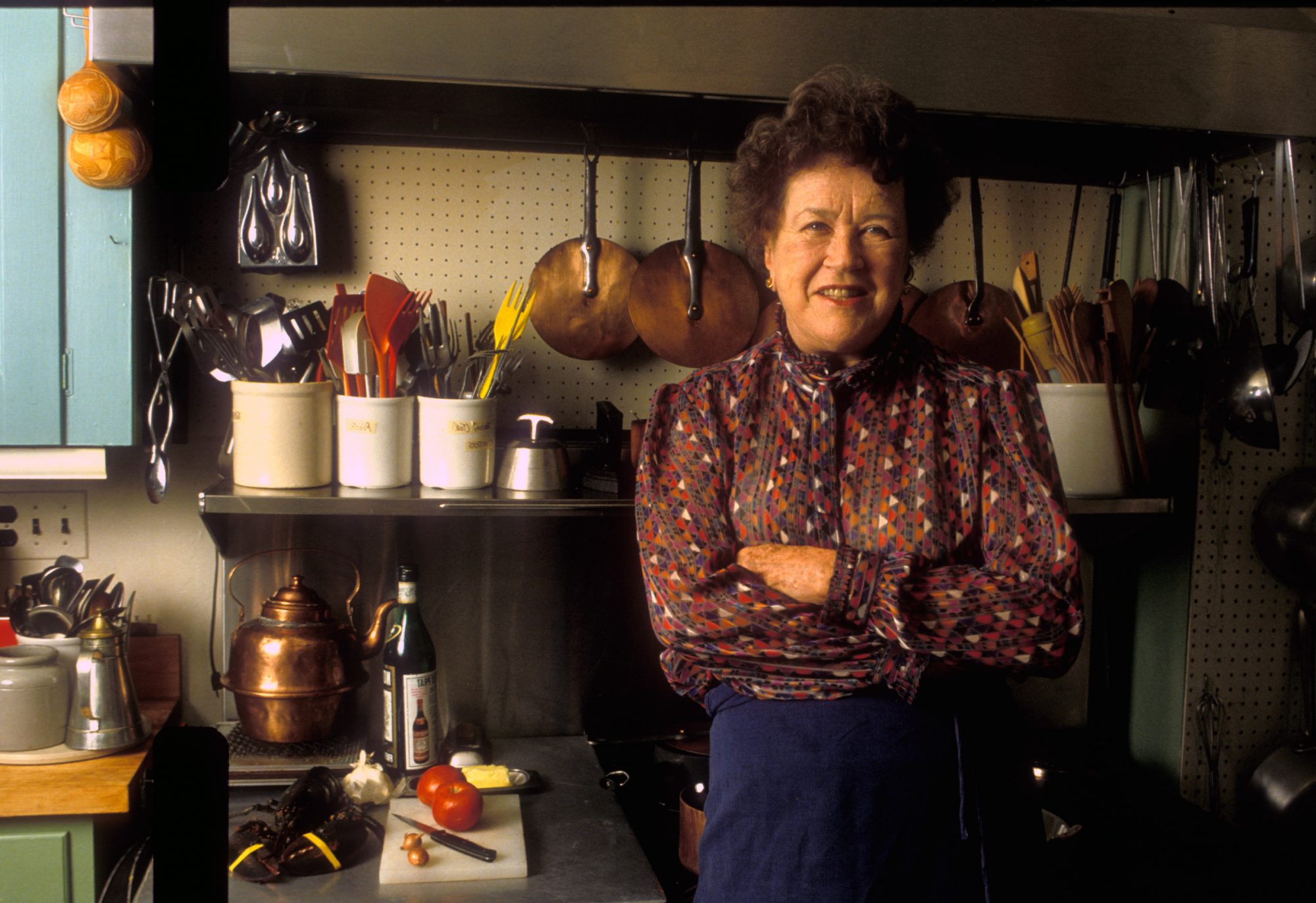 Julia Child in Kitchen