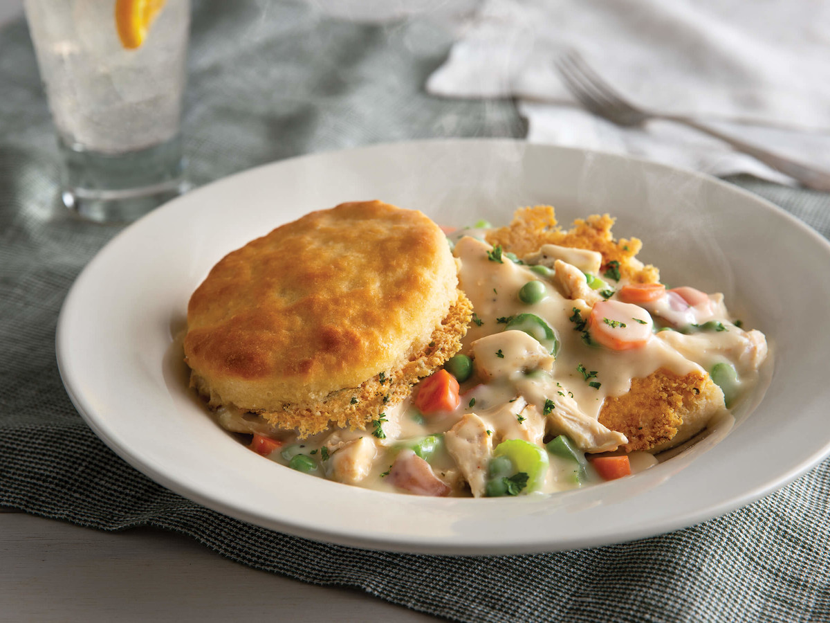 Parmesan Crusted Biscuit Pot Pie