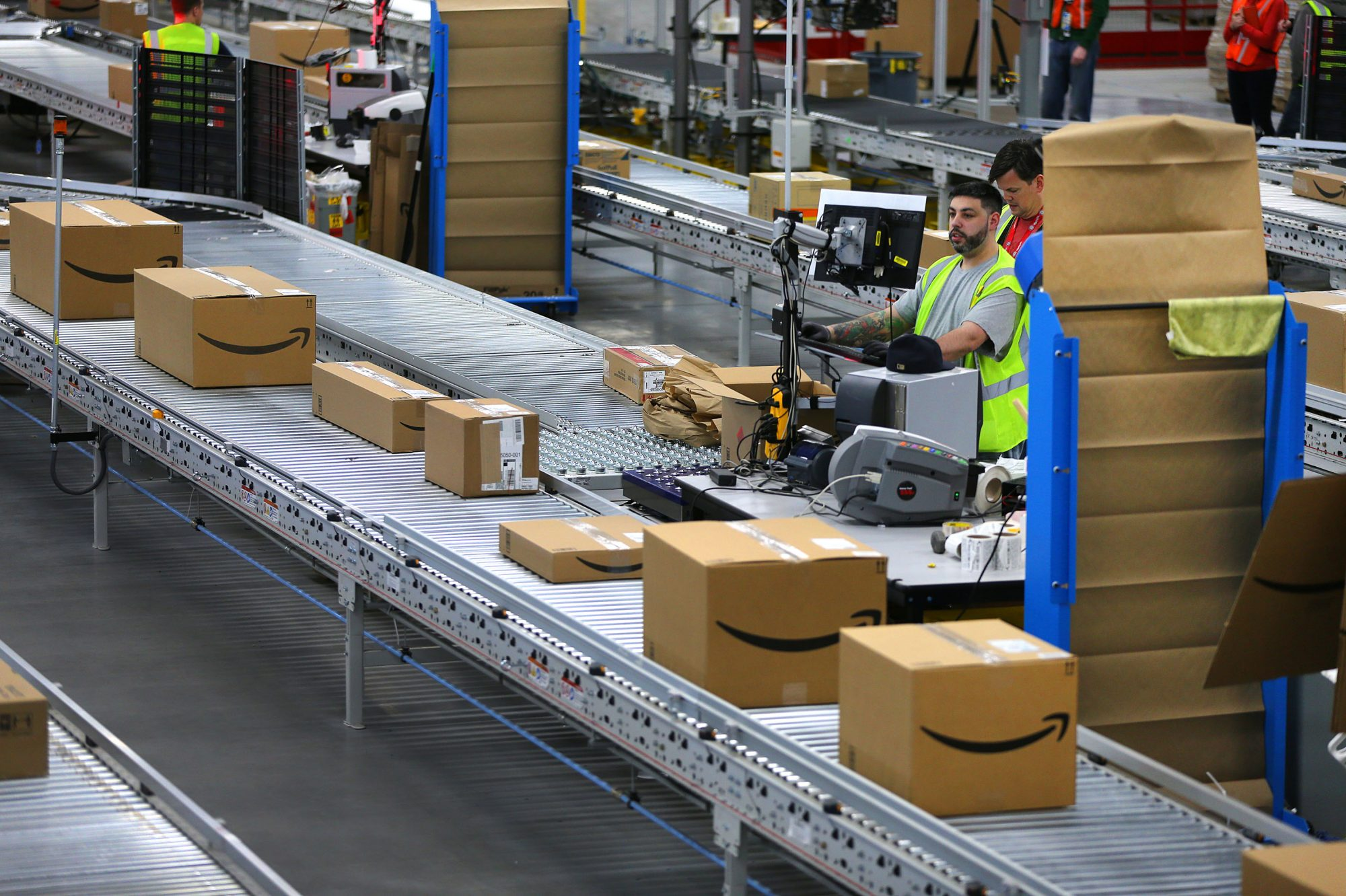 A Look Inside Amazon's Fall River Warehouse
