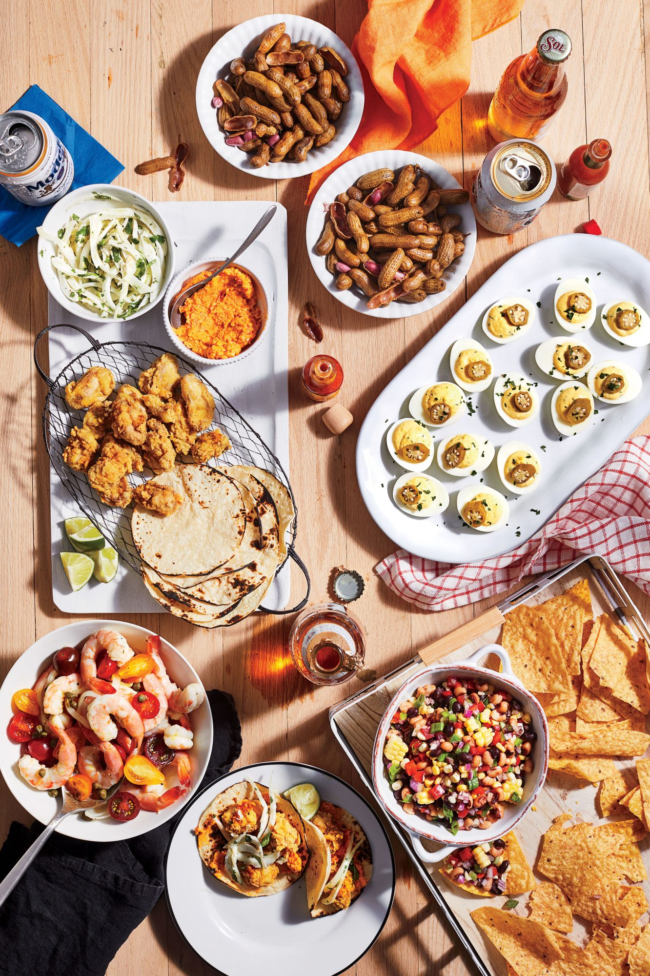Boatgating tailgate spread