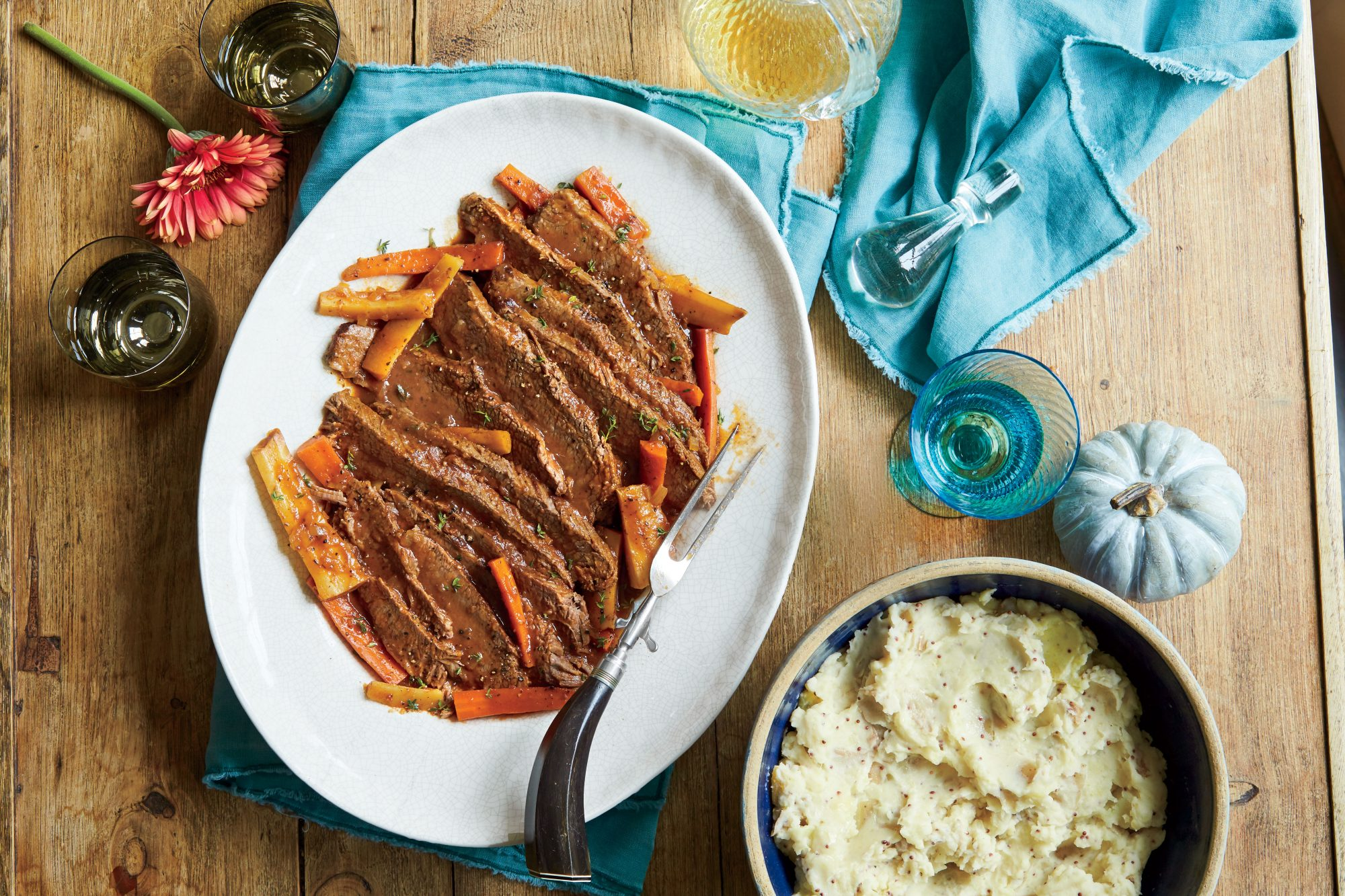Braised Cola-and-Bourbon Brisket