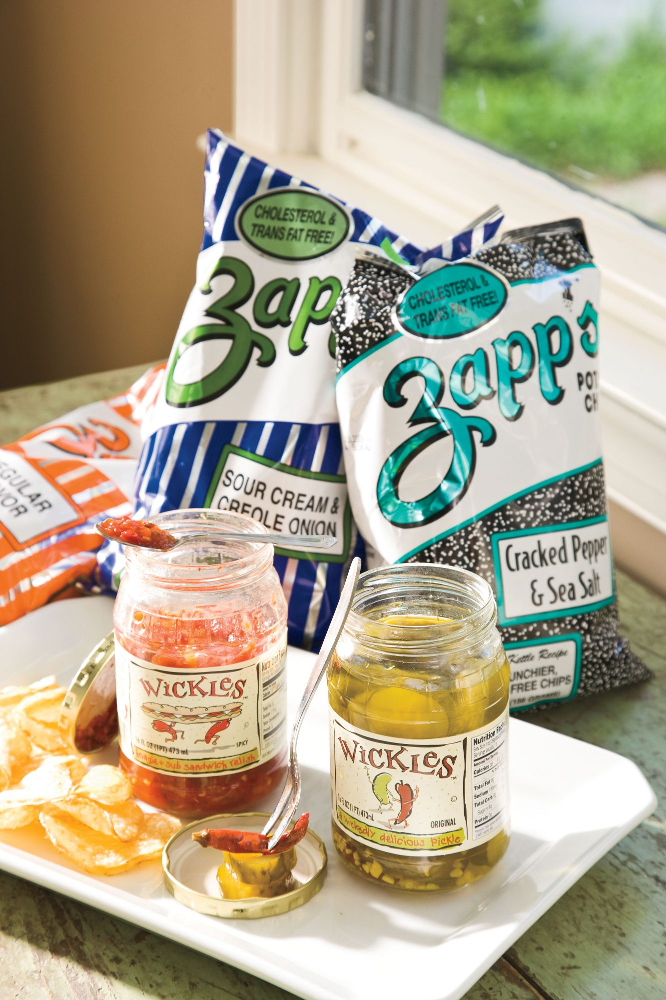 Zapp's Potato Chips and Wickles Pickles