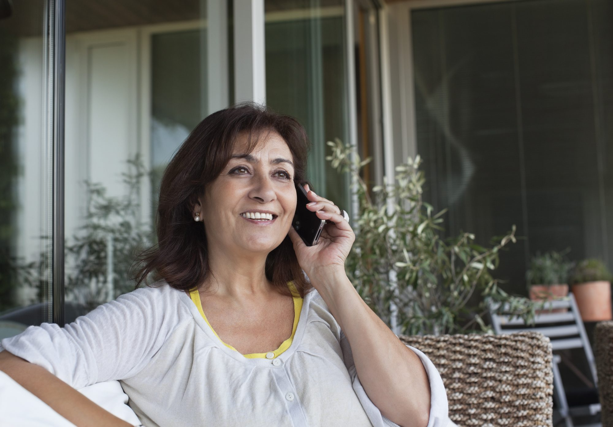 Adult Woman Talking on Cell Phone