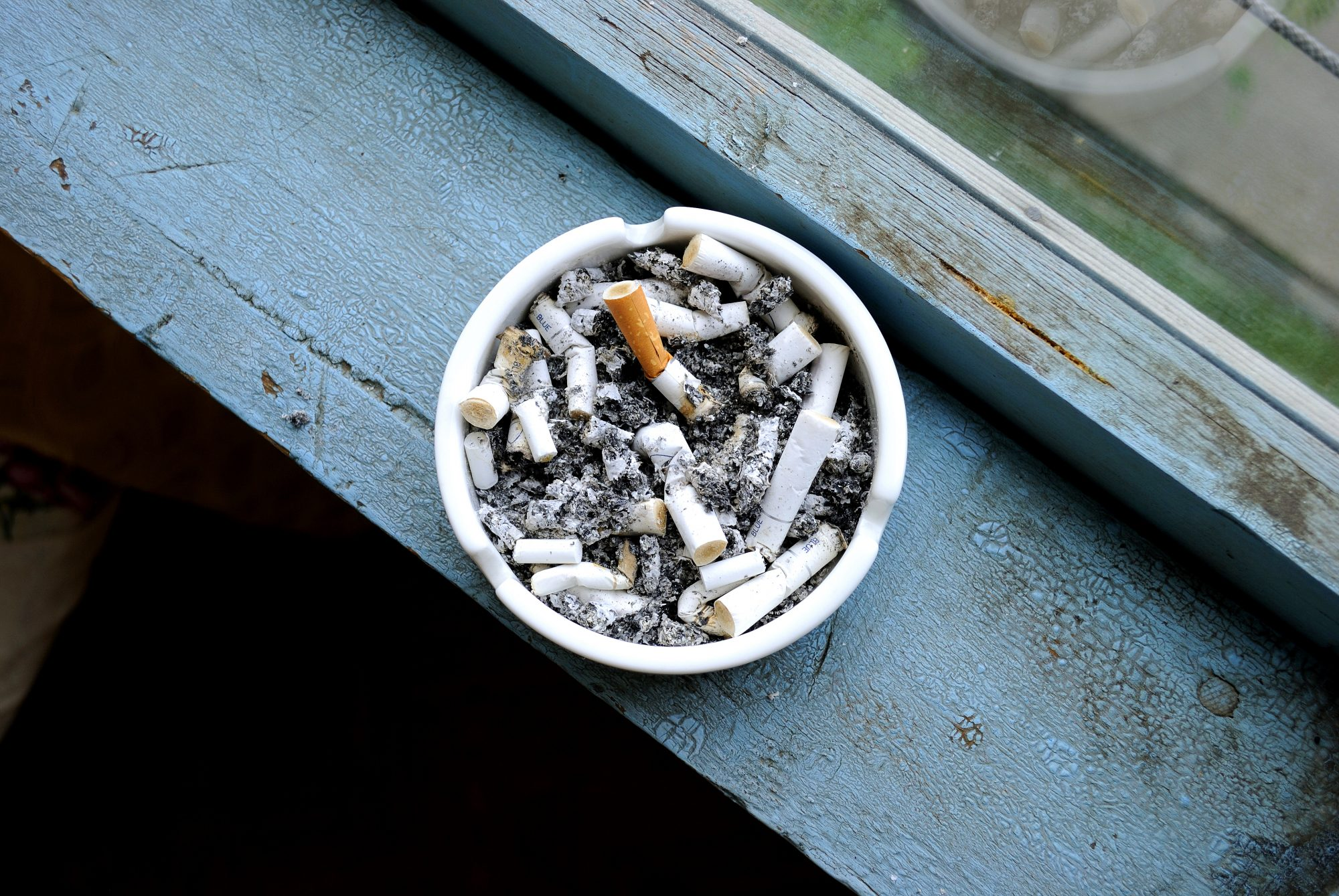 Cigarettes in Ash Tray