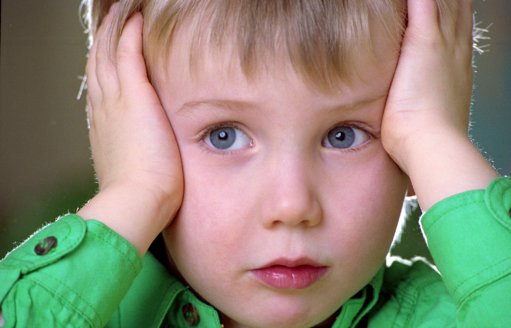 Little Boy With Worries Expression
