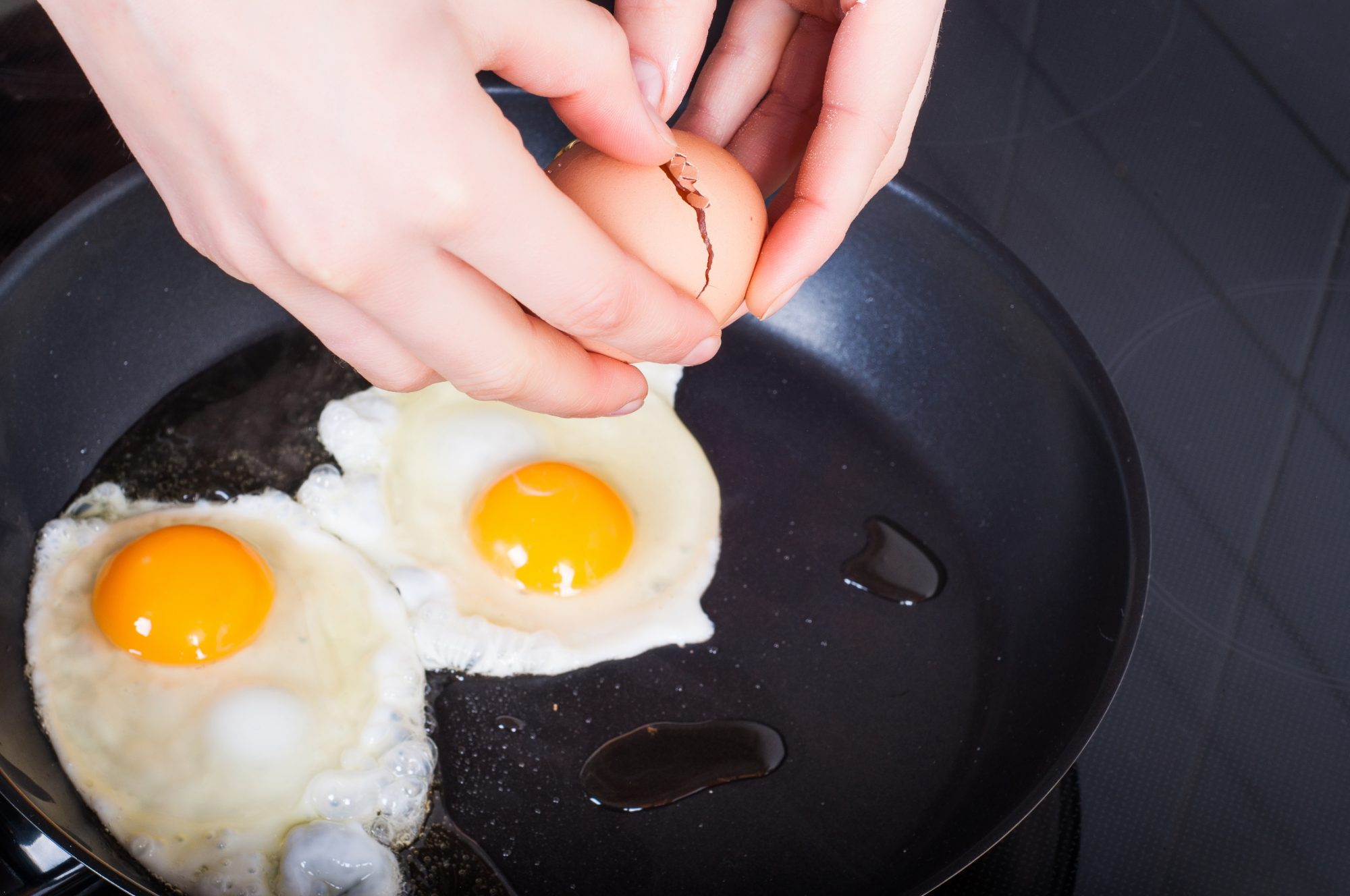 Eggs on Frying Pan