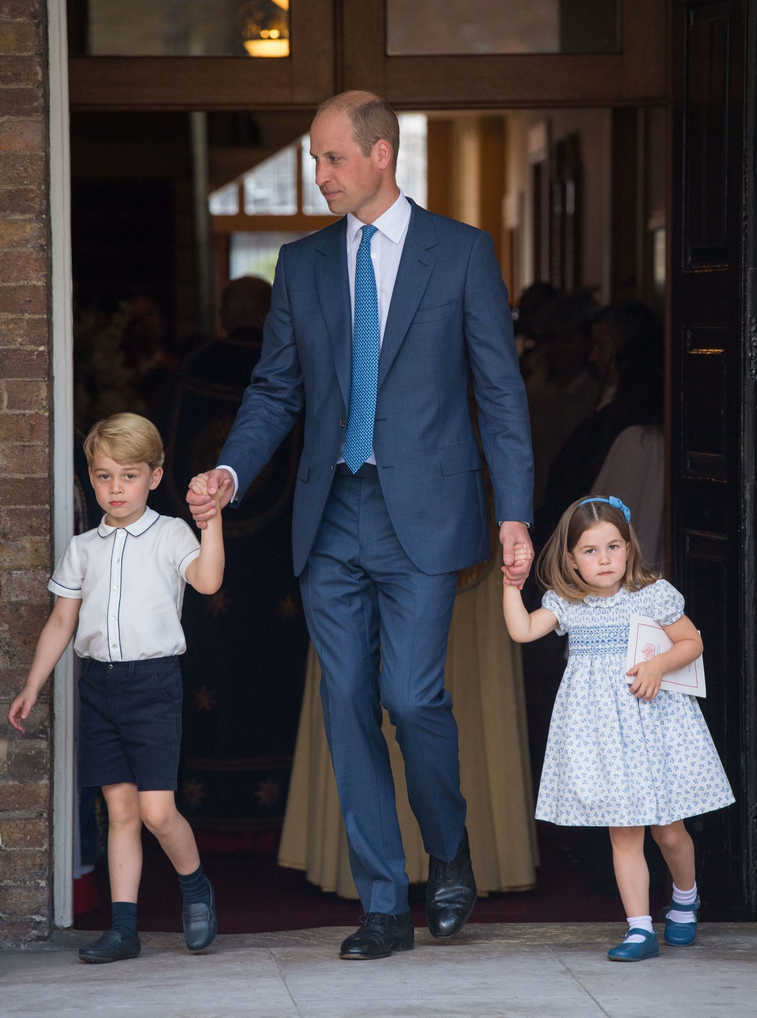 Prince George and Princess Charlotte at Prince Louis' Christening