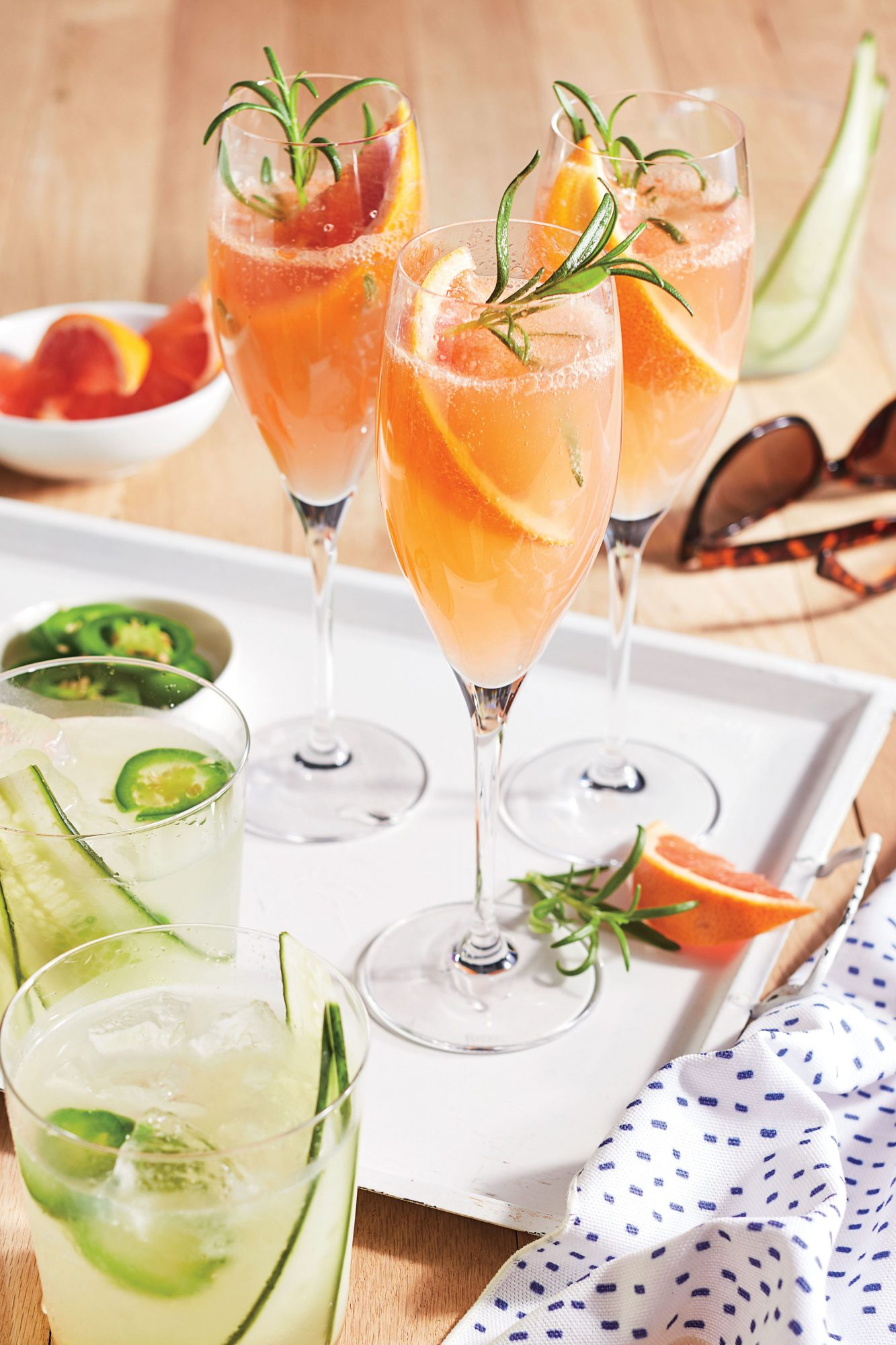 Grapefruit-rosemary Mimosas