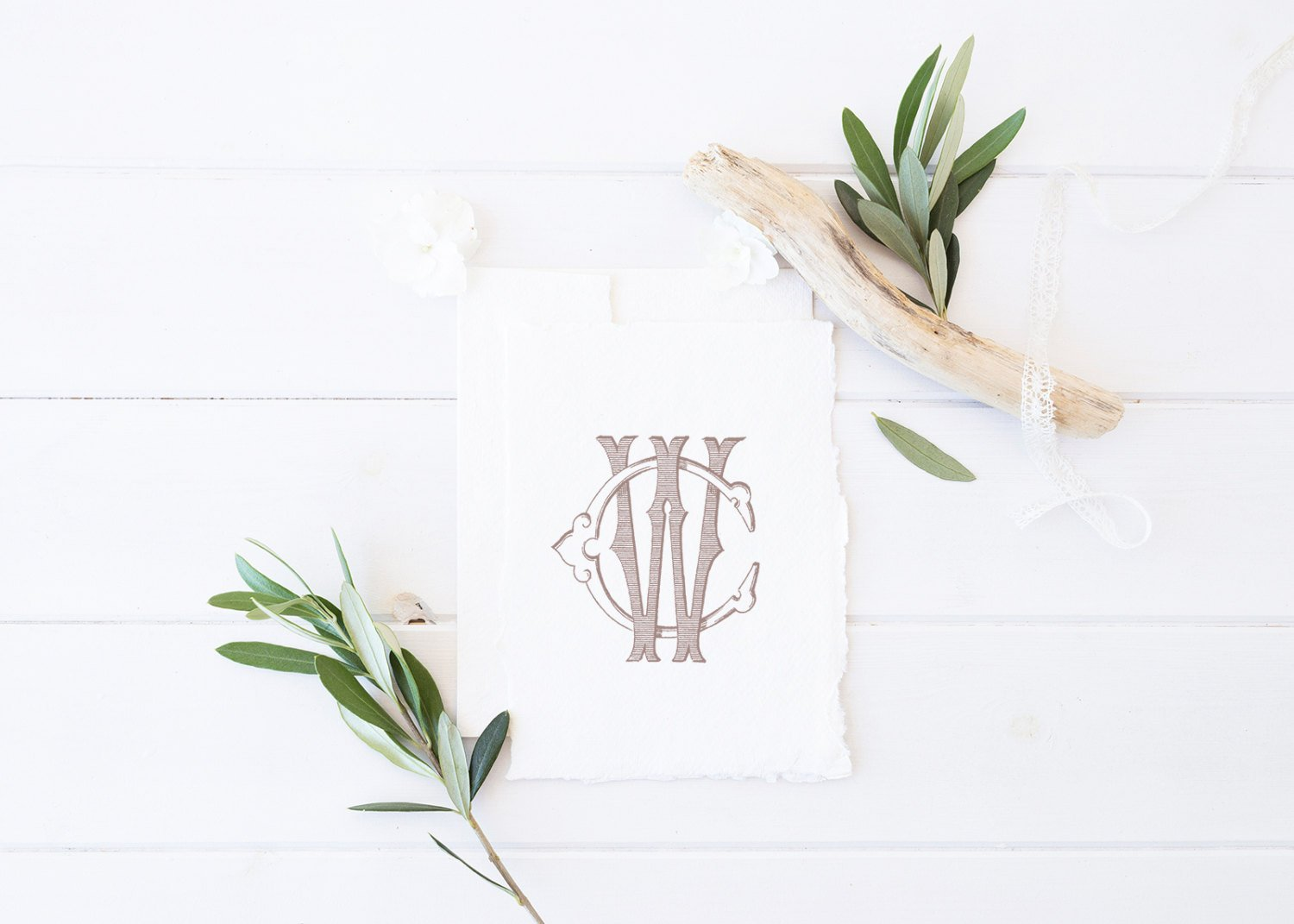 Vintage Traditional Wedding Monogram