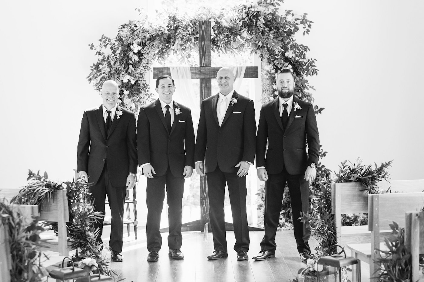 Groomsmen Standing at Alter