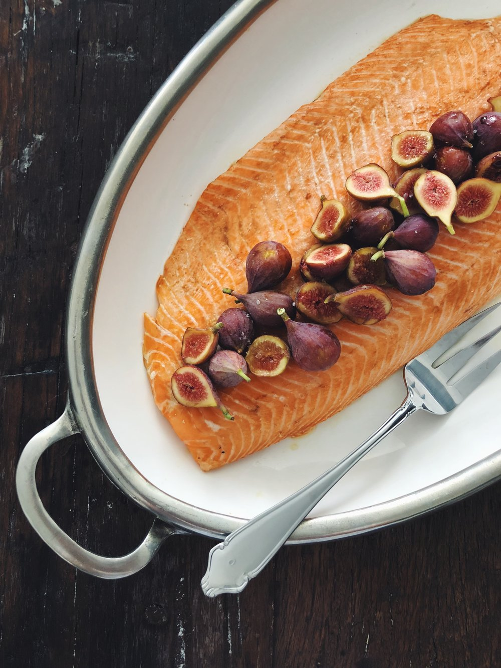 salmon with fig