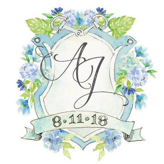 RX_1808_Wedding Monograms on Etsy_Flourishes and Flowers