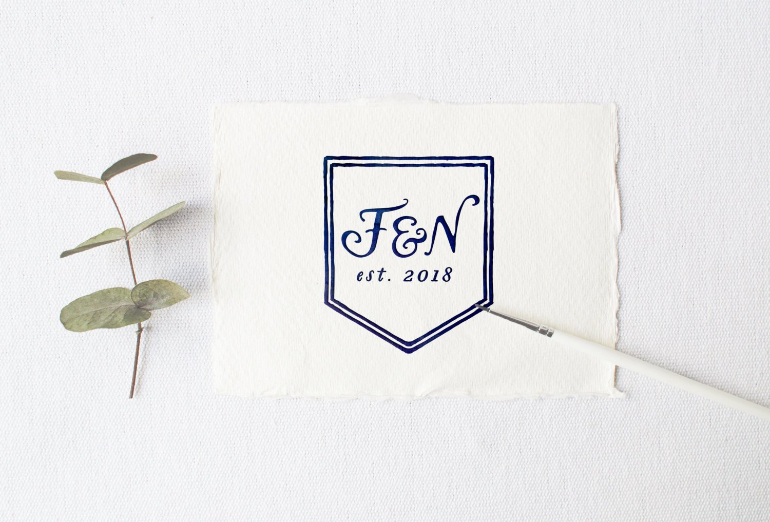 Stylish Serif Wedding Monogram
