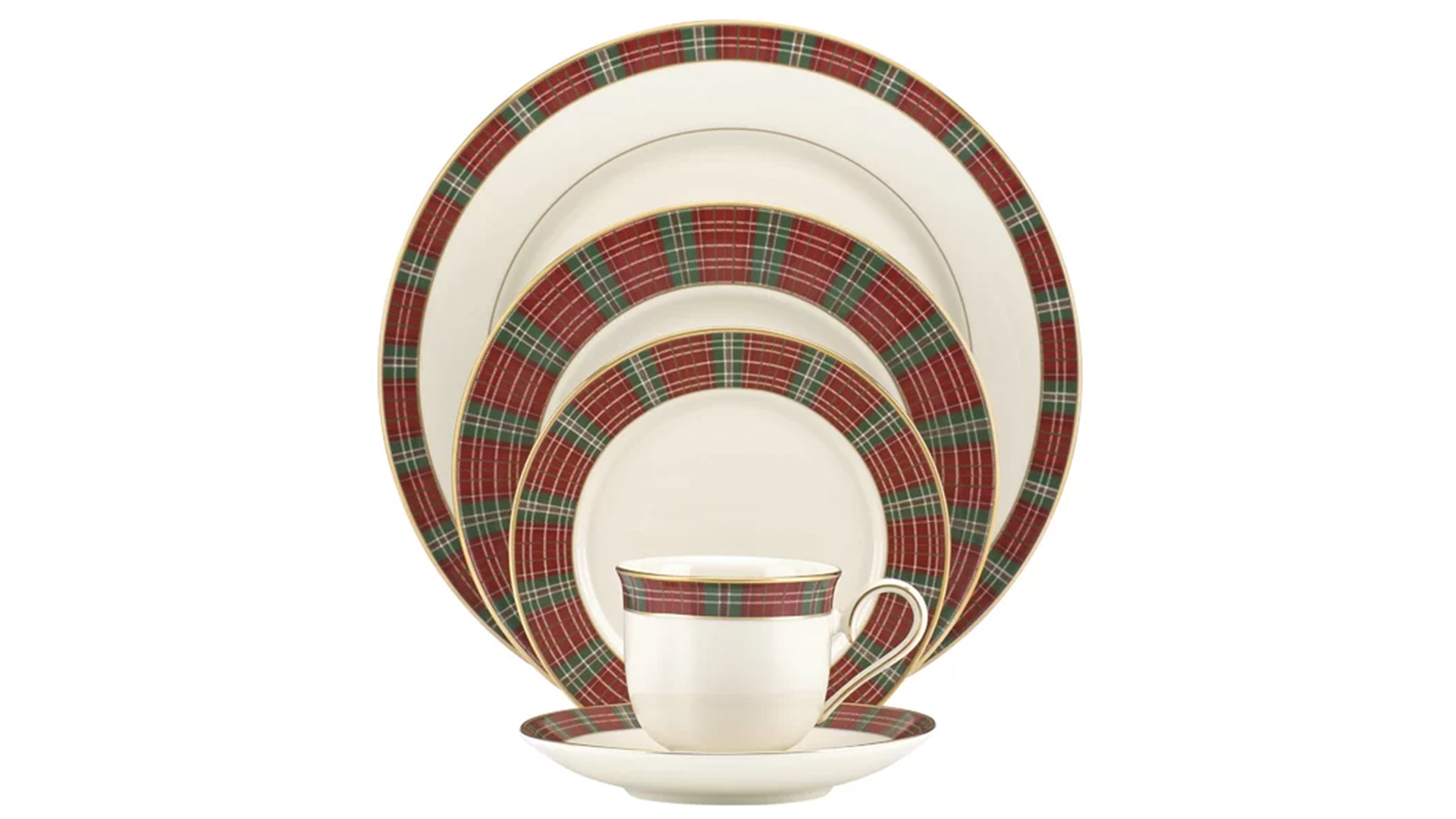 Red and Green Plaid Christmas Set
