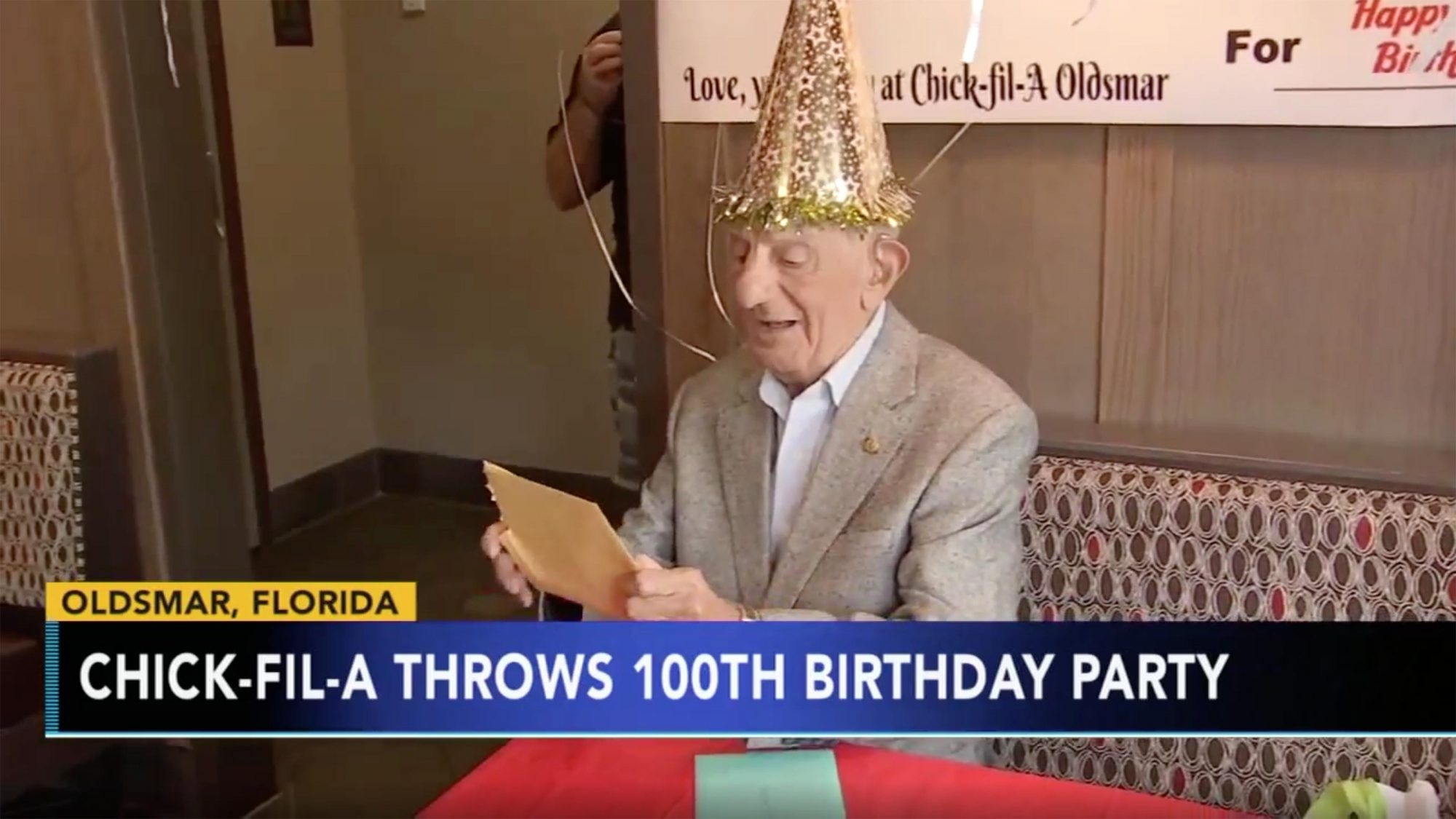 Florida Man is Gifted Free Chick-fil-A for Life to Mark His 100th Birthday