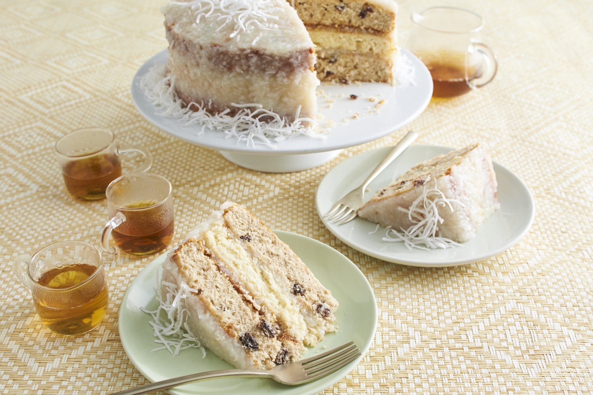 Japanese Fruitcake with Lemon-Coconut Frosting