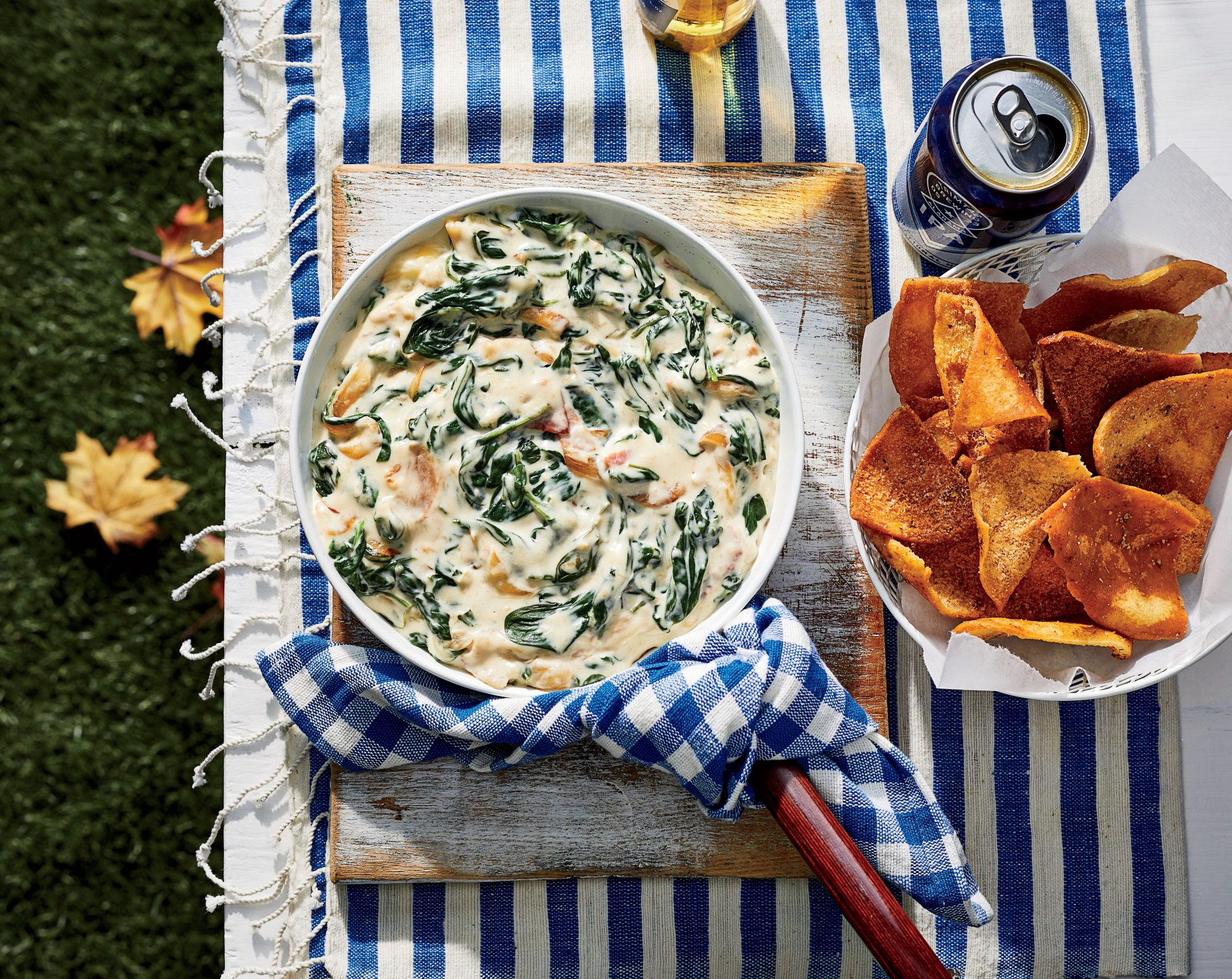Warm Spinach-Sweet Onion Dip with Country Ham