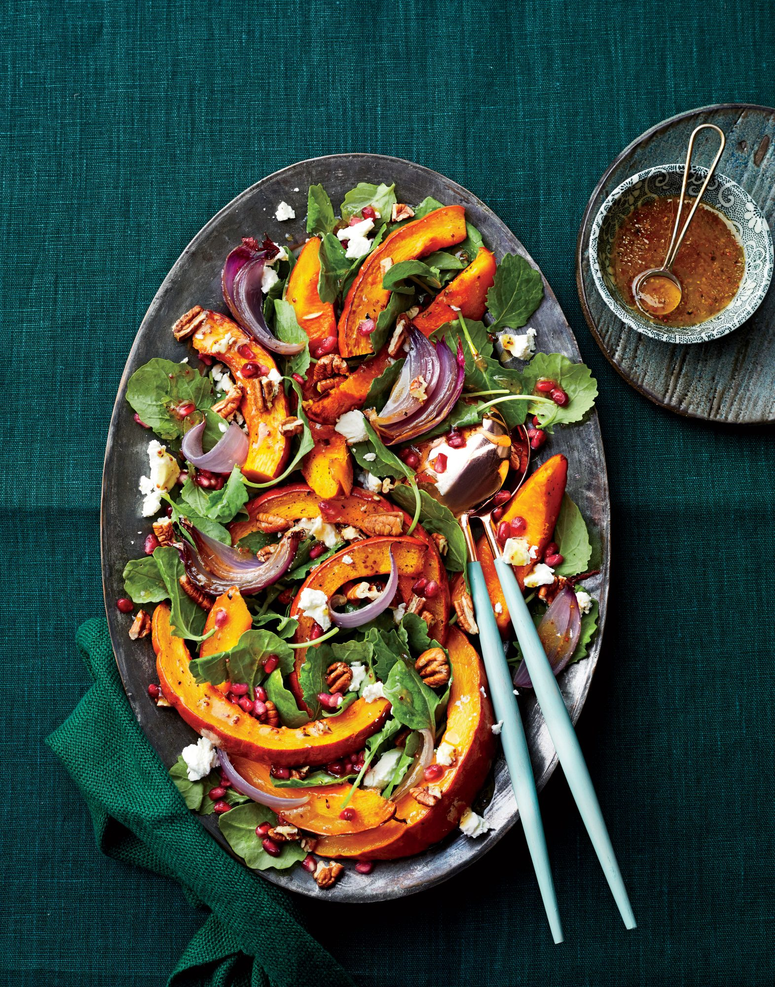 Roasted Pumpkin-and-Baby Kale Salad