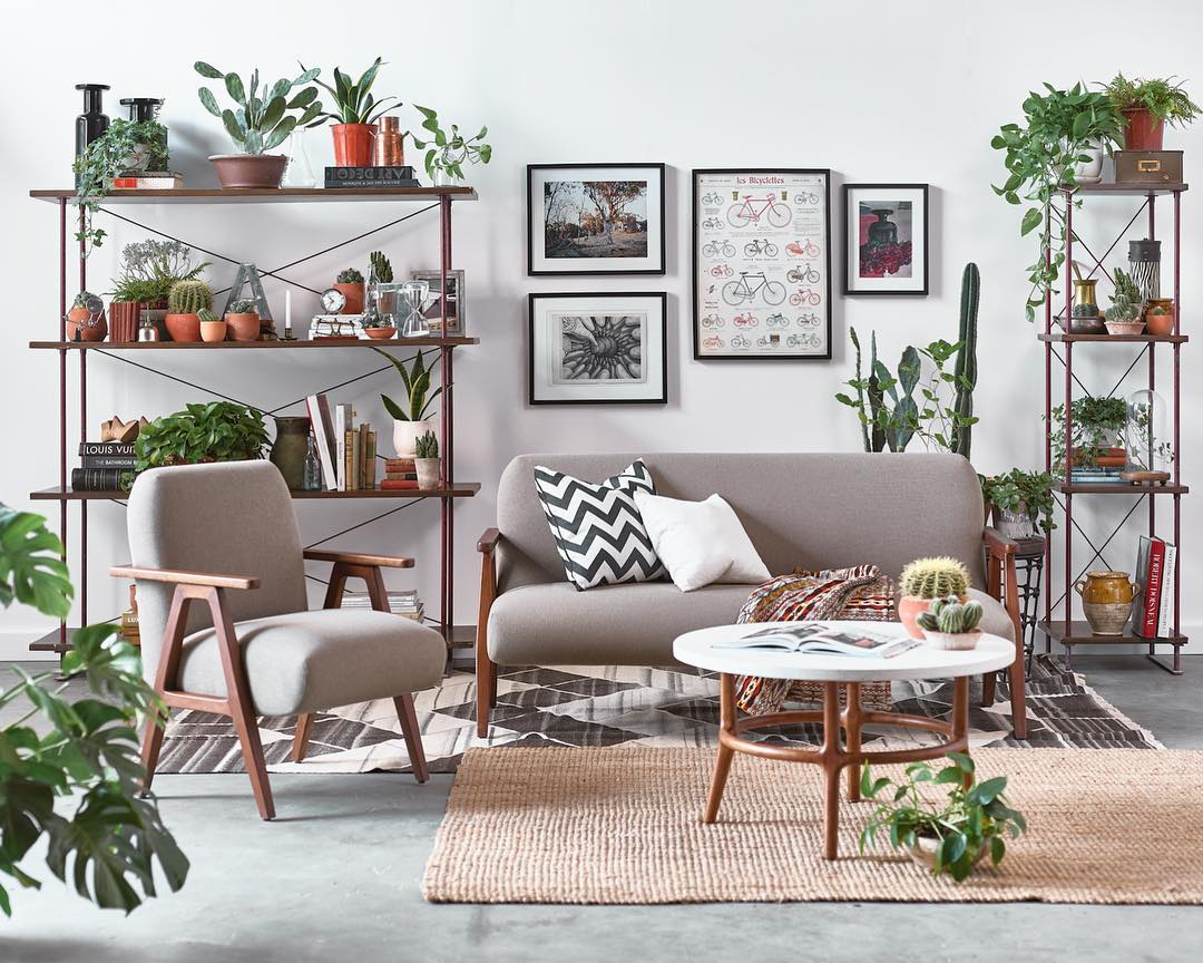 Living Room and Plants
