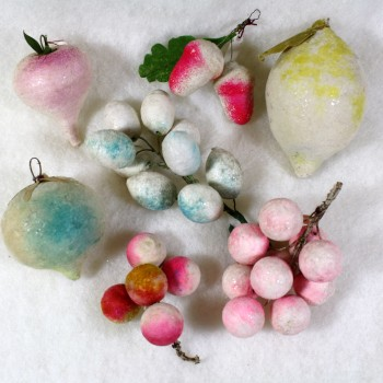 Cotton Fruit Christmas Ornaments