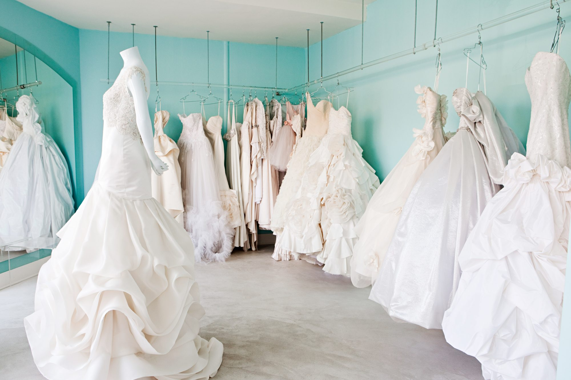 Wedding Dresses in Room
