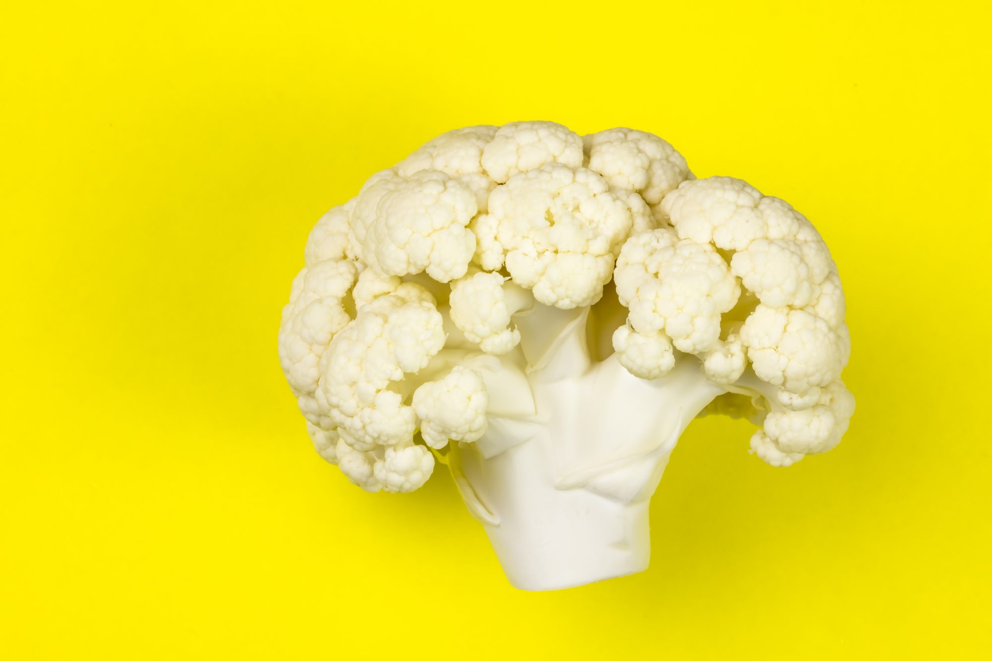 Cauliflower on Yellow