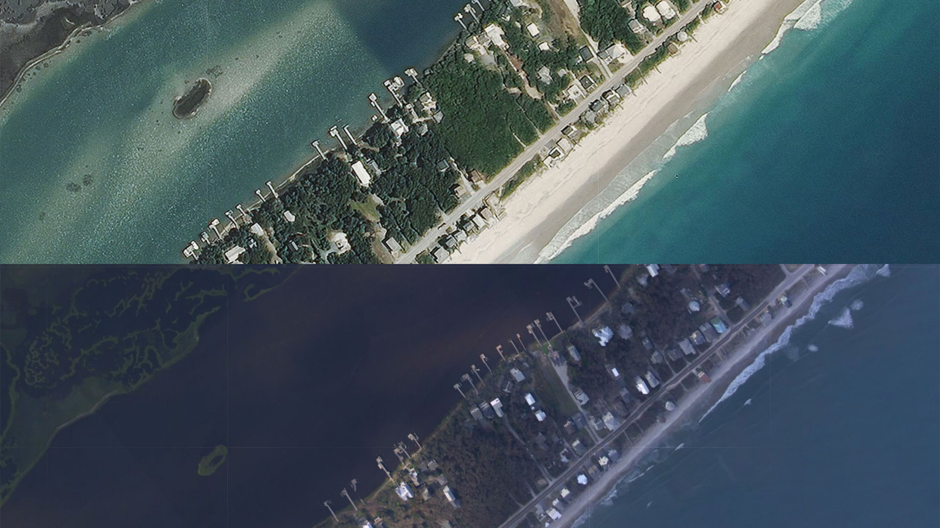 Hurricane Florence Aerial Aftermath Surf City
