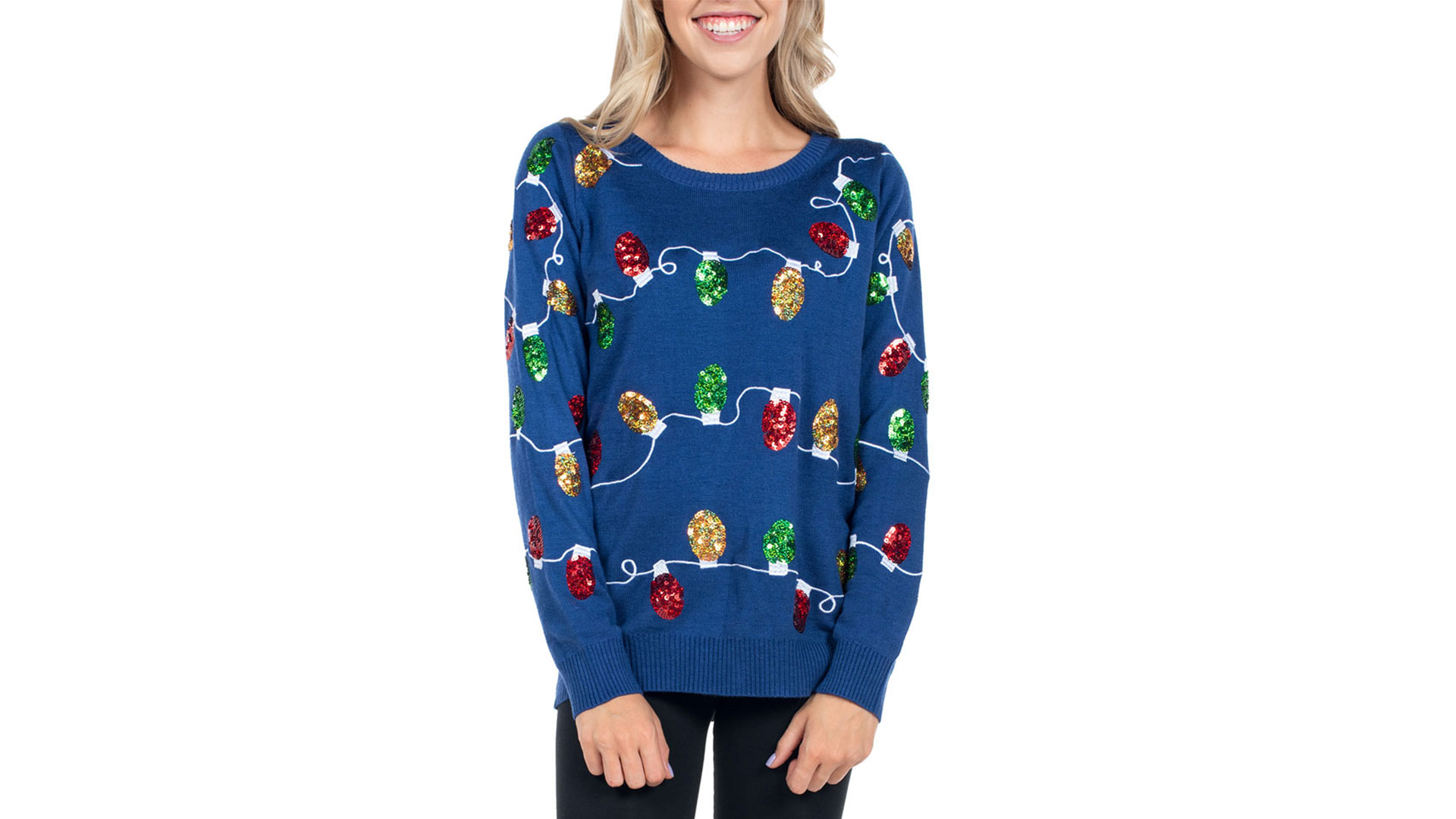 Glowing Christmas Lights Sweater