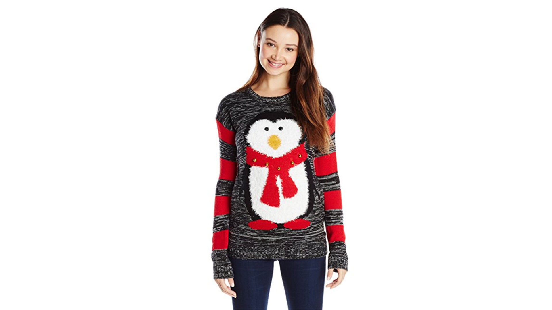 RX_1711_ Tacky Christmas Sweaters_ Jingle Bell Penguin Sweater